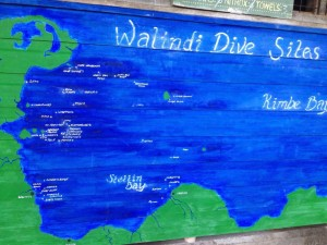 Walindi Dive map